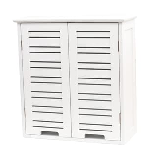 evideco bathroom wall mounted storage cabinet wood miami white