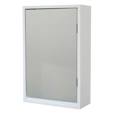 Shop Evideco Wall Mounted Mirrored Medicine Cabinet Montreal White 1