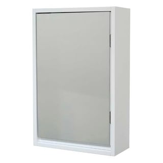 Evideco Wall Mounted Mirrored Medicine Cabinet Montreal White 1 Door