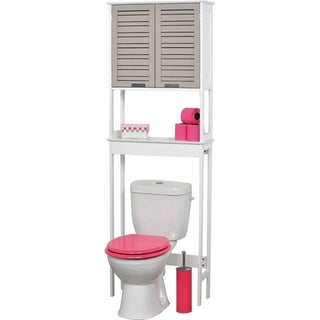 Evideco Wood So Romantic Taupe Over-the-toilet Space-saver Cabinet