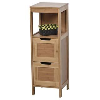 Evideco Bathroom Free Standing Storage Floor Cabinet Mahe Oak
