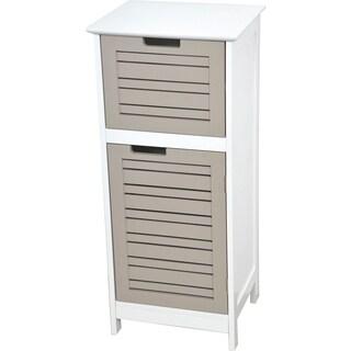 Evideco Bathroom Free Standing Storage Floor Cabinet So Romantic Taupe
