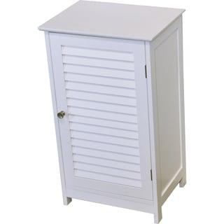 Evideco Bathroom Free Standing Storage Floor Cabinet Florence White