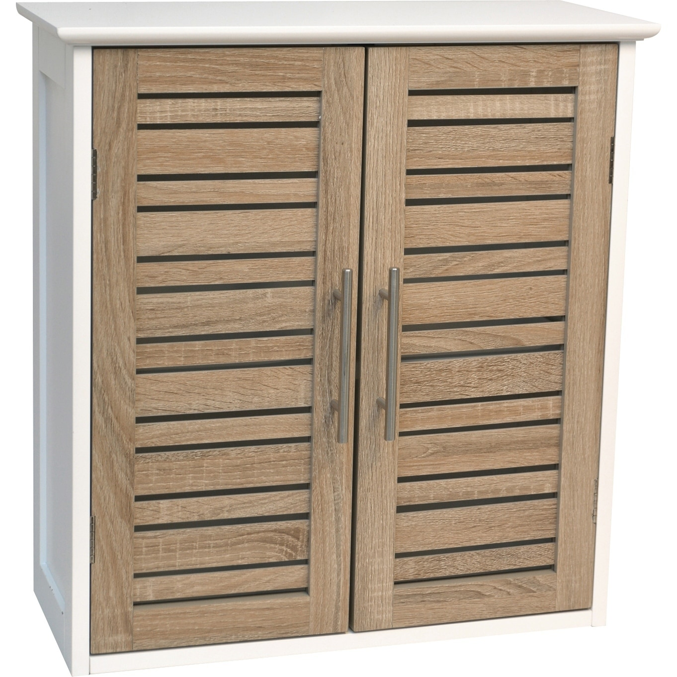 Shop Evideco Bathroom Wall Mounted Storage Cabinet Wood Stockholm Oak    Free Shipping Today   Overstock   17000791