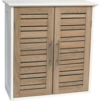 Evideco Bathroom Wall Mounted Storage Cabinet Wood Stockholm Oak