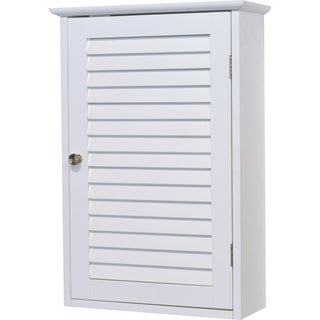 evideco bathroom wall mounted storage cabinet wood florence white