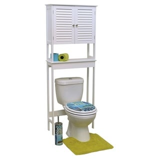 Evideco Over The Toilet Space Saver Cabinet Wood Florence White