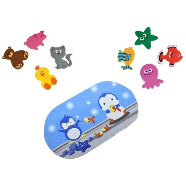 Evideco Baby Non Slippery Bathtub Mat Treads Animals Set Of 4   Free  Shipping On Orders Over $45   Overstock.com   23282817