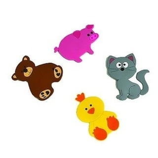 Evideco Baby Non Slippery Bathtub Mat Treads Animals Set of 4