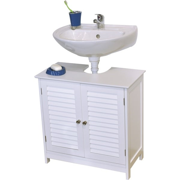 Great Evideco Non Pedestal Bathroom Under Sink Vanity Cabinet Florence White