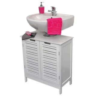 Evideco Non Pedestal Bathroom Under Sink Vanity Cabinet Miami White