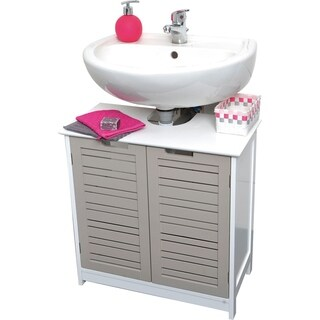 Evideco Non Pedestal Bath Under Sink Vanity Cabinet So Romantic Taupe