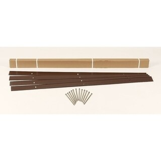 EasyFlex Aluminum Landscape Edging Project Kit, Brown