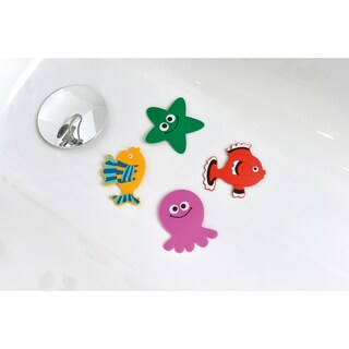 Evideco Baby Non Slippery Bathtub Mat Treads Sea Set of 4