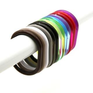 Evideco Shower Curtain Rings Plastic Hooks (Set of 12)