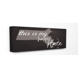 This Is My Happy Place Massachusetts Stretched Canvas Wall Art
