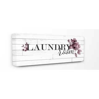 Vintage Chic Laundry Room Stretched Canvas Wall Art