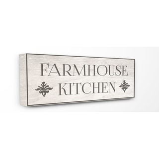 Farmhouse Kitchen Typography Stretched Canvas Wall Art