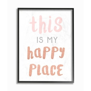 This is My Happy Place Copper Typography Framed Giclee Texturized Art