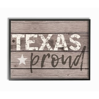 Texas Proud Typography Lone Star Framed Giclee Texturized Art