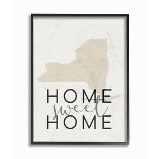 Home Sweet Home New York Typography Framed Giclee Texturized Art