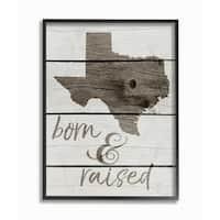 Born And Raised Texas Framed Giclee Texturized Art