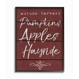 Autumn Harvest Activities Framed Giclee Texturized Art