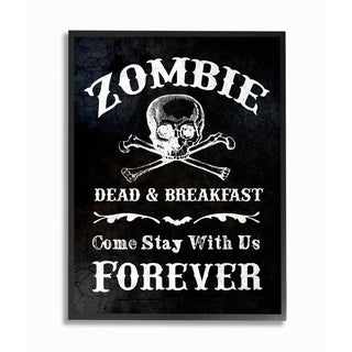 Zombie Bed and Breakfast Framed Giclee Texturized Art