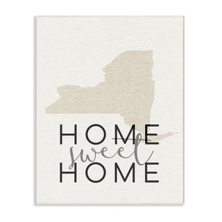 Home Sweet Home New York Typography Wall Plaque Art