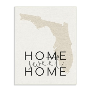 Home Sweet Home Florida Typography Wall Plaque Art