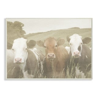 Happy Neighbors Cows in the Field Wall Plaque Art