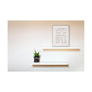 A Perfect Marriage Wall Plaque Art