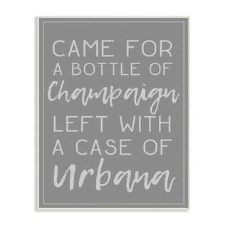 Champaign Urbana Dark Grey Typography Wall Plaque Art