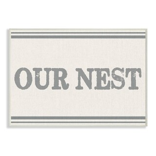 Our Nest Flour Sack Typography Wall Plaque Art