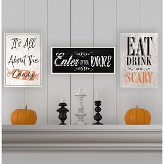 Enter If You Dare Spooky Typography Wall Plaque Art