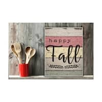 Happy Fall Distressed Wood Leaves Wall Plaque Art - 10 x 15