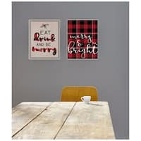 Eat Drink and Be Merry Typography Wall Plaque Art