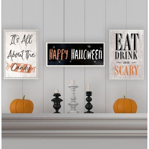 Happy Halloween Spooky Stars Wall Plaque Art