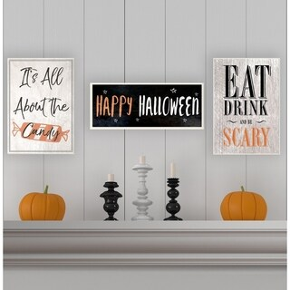Happy Halloween Spooky Stars Wall Plaque Art