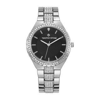 """Timothy Stone Women's """"Gala"""" Swarovski Crystal Accented Quartz Rose Gold-Tone with White Dial Watch"""