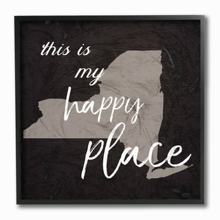This Is My Happy Place New York Framed Giclee Texturized Art