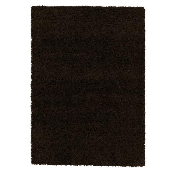 """Berrnour Home Plush Shaggy Brown Shag (6'7"""" X 9'3"""") Area Rug"""