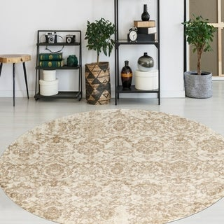 "Admire Home Living Catherine Classic Area Rug - 5'3"" Round"