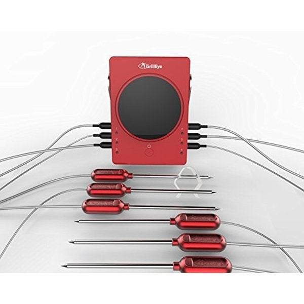GrillEye Complete Master Kit 6 Meat/Ambient Probes GrillEye Thermometer