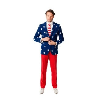 OppoSuits Men's Stars and Stripes Suit (More options available)