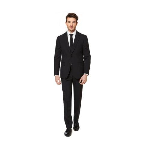 OppoSuits Men's Black Knight Suit