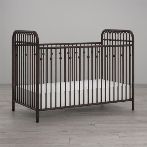 Little Seeds Monarch Hill Ivy Metal Crib - N/A