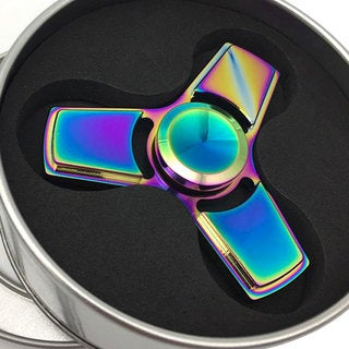 Colorful Powerful Colorful Fingertip Hand Spinner Tri-Spinner Toy Helps Relieve Stress