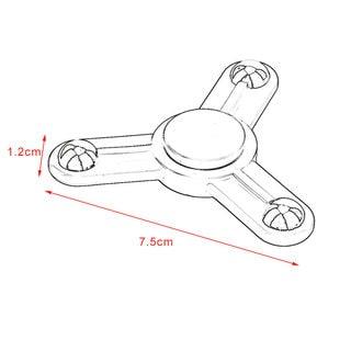 Black Tri-Spinner Toy Plastic Hand Spinner Finger Spinner Toys For Adults Kids