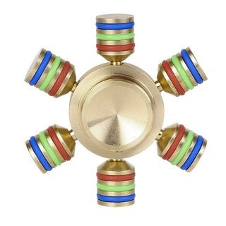 Brass Luminous Attractive Hand Spinner Brass Steel Material For Autism Stress Relief